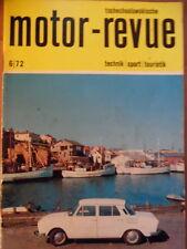 Tschechoslowakische MOTOR REVUE 6-1972 * Skoda Salon Genf Babetta Eisspeedway-WM