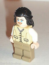 RARE Personnage LEGO INDIANA JONES minifig Marion Ravenwood / 7625 river chase