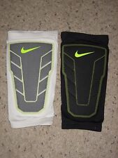(2) Nike Hyperstrong Compression Shin Sleeve Basketball Black White L