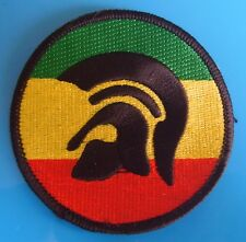 SKINHEAD SKA REGGAE PATCH - TROJAN 3 COLOUR RASTA PATCH