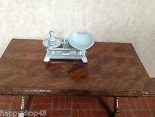Vintage Dollhouse Miniature Silver Tone Metal Food Store Weight Scale