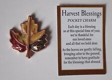 c Maple leaf HARVEST BLESSINGS Pocket Token Charm ganz blessing