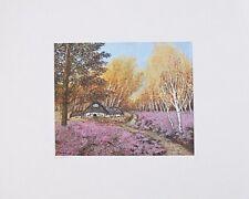 Heide Dahl Heidehaus handsigniert Poster Kunstdruck Bild 40x50cm - Portofrei