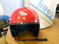 NOS Buco Vintage Open Face Helmet Red Child's Adjustable Adult Small 1773-5