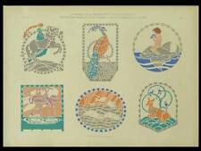 ART NOUVEAU, ANIMALS - 1909 LITHOGRAPH - POCHOIR, DEBSCHITZ LOCHNER