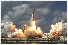 SPACE SHUTTLE BLASTOFF POSTER (61x91cm) EDUCATIONAL CHART NEW WALL ART