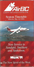 Air BC system timetable 5/12/91 [6102] Buy 2 Get 1 Free