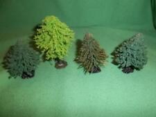 Vintage Pre-owned Lot of 4 N Gage Flocked Pine Trees