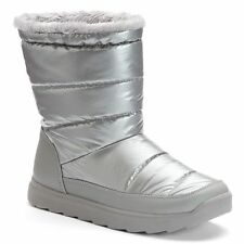 Tek Gear Women's Size 9 Hazel Silver Grey Puff Faux Fur Winter Snow Boots NEW