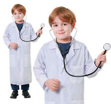 Childrens Doctors Lab Coat Fancy Dress Costume Outfit Boys Girls Kids Childs L