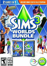 The Sims 3 Worlds Bundle  (PC, 2013) REPLACEMENT DISCs