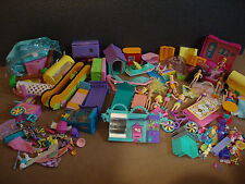 Polly Pocket Mixed Lot of Dolls, Furniture, Parts, Pets, and More!