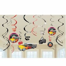 Anni'50 Classic Rock N Roll 12 Appeso Turbinii Decorazioni Festa Cars 1950 dadi divertimento
