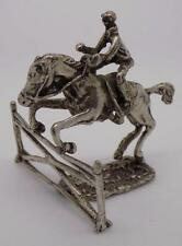 Vintage Solid Silver Jumping Horse Miniature - Stamped - Made in Italy