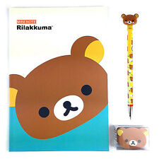 San-x Rilakkuma A5 Note School Supply Stationary Note Pencil Eraser Set : Mint