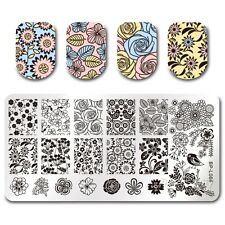 BORN PRETTY Nail Art Stamp Plate Stamping Image Template Floral Pattern BPL-66