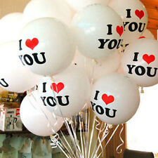 New 10X White I LOVE YOU Latex Balloons Birthday Party Wedding Anniversary Decor