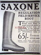 Small 1916 SAXONE WW1 Officers Field Service Boot ADVERT - Original WW1 Print Ad