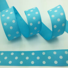 "NEW~ 5 yds 1"" 25mm Printed Grosgrain Ribbon Hair Bow DIY Sewing #A0559"