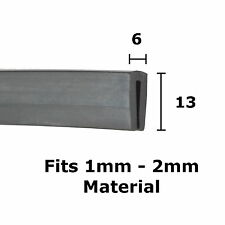 BLACK Rubber U Channel Edging Trim Seal 6mm x 13mm from The Metal House