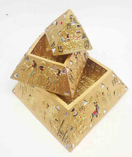 Egyptian Legend Myth Three Level Gold Pyramid Jewelry Trinket Box CHRISTMAS SALE