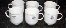 6 Wedgwood Nantucket Basket Weave  Beaker Mugs Cups White  NWT   3 1/2""