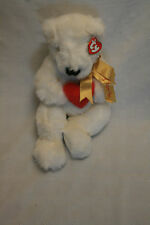 Ty Classic White Bear w/Red Heart Gold Ribbon I Love You Romeo LNWT Valentine
