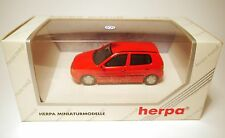 Volkswagen VW Polo Typ 6N in uni rot rouge rosso roja red, Herpa in 1:43 BOXED!