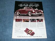 1957 Mercedes-Benz 300SC Roadster Franklin Mint Ad 1/24 Scale Diecast