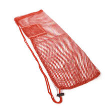 """25"""" X 6"""" Yoga Mat Mesh Bag with Pocket and Strap, Red"""