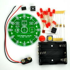 12 Position LED Electronic Lucky Rotary Board Kit, Based on PIC12F508 MCU.