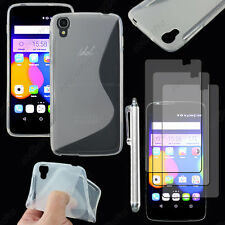 "Housse Coque S-line Gel Transparent Alcatel Onetouch Idol 3 5.5"" +Stylet 3 Film"