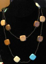 Great Single string necklace with many small brown beads & feature beads