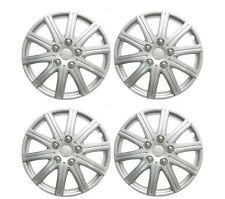 "15"" Wheel Trims Covers Tyre Valve Caps Ties Alloy Look Silver spoke rims type 2"