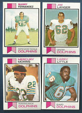 1973 TOPPS DOLPHINS MANNY FERNANDEZ CARD #75