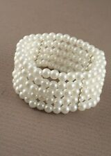 5 nouvelle ligne stretch pearl bead cuff corsage mariage courses boule bal ascot fashion