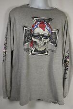 DAYTON BEACH 1998 BIKE WEEK SHIRT Men Large Long Sleeve Motorcycle Florida Skull