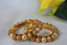 Ethnic Indian Traditional Pearl 2 Bangles Bollywood Jewellery  2*4 123