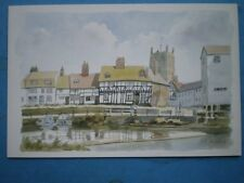 POSTCARD WORCESTERSHIRE TEWKESBURY WATERCOLOUR