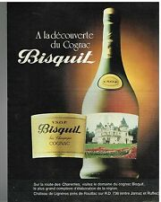 Publicité Advertising 1982 Le cognac Bisquit