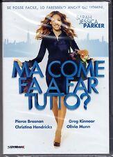 Dvd **MA COME FA A FARE TUTTO** con Sarah Jessica Parker nuovo 2011