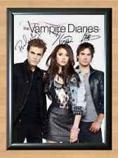 THE VAMPIRE DIARIES Nina Ian Paul Signed Autographed A4 Print Photo Poster dvd