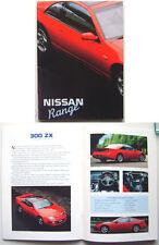 Nissan Micra Sunny Bluebird 200SX Maxima 300ZX Patrol 1990 Original UK Brochure