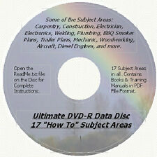 "Ultimate ""How To"" and Reference Library on DVD-R Data Disc - 17 Subject Areas"
