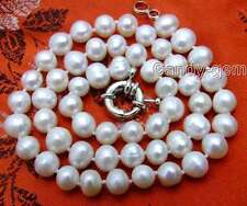 """SALE 6-7MM White Natural Freshwater PEARL 17"""" NECKLACE -5613 Free shipping"""