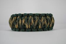 550 Paracord Survival Bracelet King Cobra Emerald Green/Woodland Camo Camping