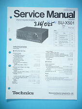 Service Manual für Technics SU-X501 ,ORIGINAL