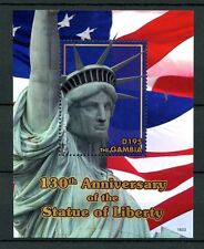 Gambia 2016 MNH Statue of Liberty 130th Anniv 1v SS New York Architecture Stamps
