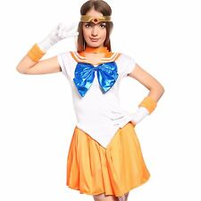 Japanese Anime Sailor Moon: Venus Serena Costume Dress Suite for Cosplay Party