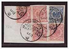 DP China  Vorläufer V 47 b (4) + V 48 b ° Shanghai 4.11.92 Kab.- Briefstück BPP